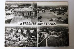 CPSM 61 La Ferrière Aux Etangs Vue Aérienne Les Fours Le Puits étang De La Mine Eglise LAPIE - Sonstige Gemeinden