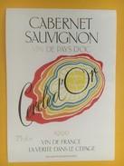 4608 - Cabernet Sauvignon 1990 Cercle D'Or - Vin De Pays D'Oc