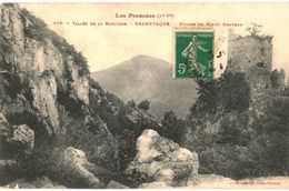 CPA N°3920 -  VALLEE DE LA BAROUSSE - BRAMEVAQUE - RUINES DU VIEUX CHATEAU - Other Municipalities
