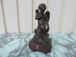 Statue En Bronze Et Socle Marbre - Bronzes