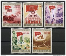 ALBANIA, 35th YEARS ANNIVERSARY OF THE ALBANIAN WORK PARTY 1976, NH SET - Albanie