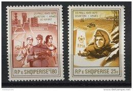 ALBANIA, 30th YEARS ANNIVERSARY OF THE ALBANIAN BORDER PROTECTION 1975, NH SET - Albania