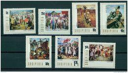 ALBANIA, NATIONAL PAINTINGS 1976, NH SET - Albanien