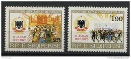 ALBANIA, 30th YEARS ANNIVERSARY OF THE ALBANIAN FOLK'S REPUBLIC 1976, NH SET - Albanien