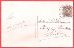 CP Château Le Neubois TP Albert Obl CONFERENCE DIPLOMATIQUE SPA 12 VII 1920  - Bon Tarif  Imprimé ! - Postmark Collection
