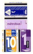 4 TICKETS TRANSPORT *METROBUS *BUS Rouen Tcar - Europa