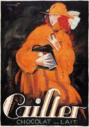 Cailler Chocolat Au Lait 1921 - Postcard - Poster Reproduction - Publicité