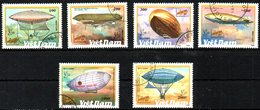 VIET-NAM. N°1127-32 Oblitérés De 1990. Zeppelins. - Zeppelins