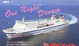 Télécarte JAPON * BATEAU * PHONECARD JAPAN * SHIP (1509) TK *  * SCHIFF * Schip - Boot - Barco * CINEMA - Schiffe