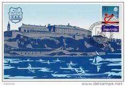 YUGOSLAVIA 1985 Danube Regatta On Maximum Card.  Michel 2113 - Maximum Cards