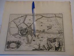 Vinderhoute / Vinderhaute Bij Lovendegem : Oude Kaart Sanderus - 1735 - Lovendegem