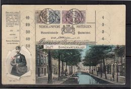 'Bontkraag Op Postwissel' Delft Binnenwatersloot  (BY) - Period 1891-1948 (Wilhelmina)