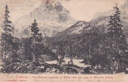 Cadore - Tre Cime Di Lavaredo Vista Dal Lago Di Misurina * 3. VIII. 1903 - Belluno