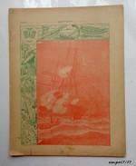 Ancienne Couverture De Cahier (protege-cahier)  - COMBAT NAVAL CONTRE LES CHINOIS A SHEI-POO - 15 Fevrier 1885 - Protège-cahiers