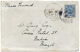 IRELAND 1932. Cover From Luimneach (Limerick) To Bahia, Brazil - 1922-37 Irischer Freistaat