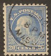 USA 1914 20c Franklin P10 SG 445 U #AAS37 - Etats-Unis