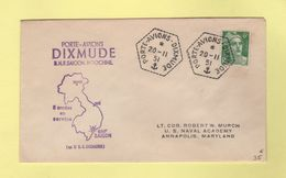Porte Avion Dixmude - BNF Saigon Indochine - 20-11-51 - Marianne De Gandon - Postmark Collection (Covers)