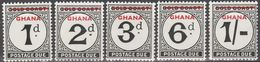 GHANA.1958..Michel # 1-5...MNH...Portomarken...MiCV - 1.60 Euro. - Ghana (1957-...)