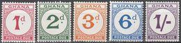 GHANA.1958..Michel # 6-10...MNH...Portomarken...MiCV - 1.30 Euro. - Ghana (1957-...)