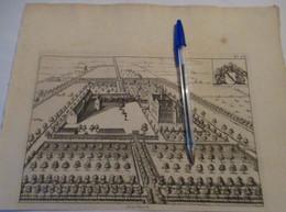Overmere Bij Berlare : Oude Kaart Sanderus - 1735 - Berlare
