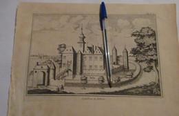 Nokere Bij Kruishoutem : Oude Kaart Sanderus - 1735 - Kruishoutem