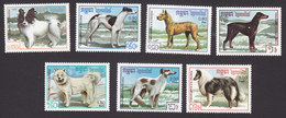 Cambodia, Scott #768-774, Mint Hinged, Dogs, Issued 1987 - Cambodia