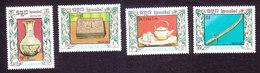 Cambodia, Scott #785-788, Mint Hinged, Silverware, Issued 1987 - Cambodge