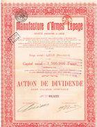 Ancienne Action - Manufacture D'Armes Lepage - Titre De 1923 - - Industrie