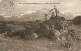 """.CPA  FRANCE 74 """"Reignier, La Plaine Aux Jonquilles"""" - Francia"""