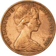 Australie, Elizabeth II, 2 Cents, 1981, TTB, Bronze, KM:63 - Monnaie Décimale (1966-...)