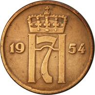 Norvège, Haakon VII, 5 Öre, 1954, TTB, Bronze, KM:400 - Norvège