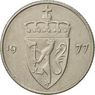 Norvège, Olav V, 50 Öre, 1977, SUP, Copper-nickel, KM:418 - Norvège