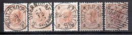 Österreich, 1890, 5x Freimarke 2Kr., MiNr.51 Mit Unterschiedl. Ortsstempeln (16458E) - 1850-1918 Imperium