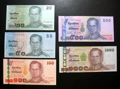 Thailand Banknote 20-50-100-500-1000 Baht Series 15 UNC - Thailand