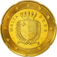 Malte, 20 Euro Cent, 2008, FDC, Laiton, KM:129 - Malta