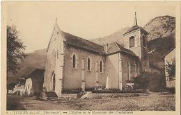 74 - Veyrier Du Lac - L'église Et Le Monument Des Combatants  - Non Circulée (avi) - Veyrier