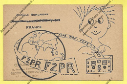 CARTE RADIO QSL: Opérateur Camille Ruhlmann  MONTMORENCY - Radio Amateur