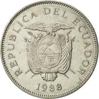 Équateur, 50 Sucres, 1988, TTB+, Nickel Clad Steel, KM:93 - Ecuador