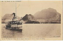 74 - Lac D'annecy - Talloires Le Bateau Venant De Duingt    - Non Circulée (avi) - Talloires