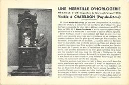 Une Merveille D'Horlogerie, Médaille D'or De Clermont-Ferrand, Visible à Chateldon (Puy-de-Dôme), Carte Non Circulée - Craft
