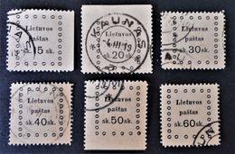 EMISSION DE KAUNAS 1919 - OBLITERES - YT 12/17 - MI 21/26 - Lithuania