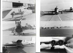 Aviation Avion Militaire à étudier Lieu à Situer  - 6 Véritables Photos 9 X 13,5 Cm - Aviación
