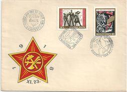 5722 Hungary FDC History Party Organization Communist - Vereine & Verbände
