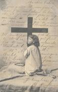 Enfant à La Croix - Clayette-Phot. - Carte Dos Simple - Niños