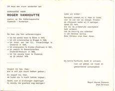 Devotie - Doodsprentje - Pastoor Roger Vanhoutte - Stene 1919 - Knokke - Konterdam Oostende 1976 - Obituary Notices