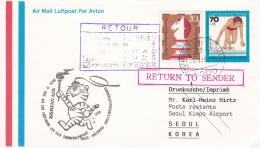 Germany Special Flight Lufthansa Opening Ceremony   Seoul 1988 Olympic Summer Games   (DD3-23) - Verano 1988: Seúl
