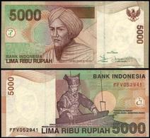 Indonesia #142a, 5.000 Rupiah, 2001, UNC / NEUF - Indonesien