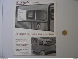 PUBLICITE AD Glac Auto 2 CV CITROEN  Fourgonnette Prospectus Brochure Prospeckt - Werbung