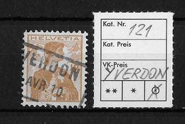 1907 HELVETIA MIT BRUSTBILD → SBK-121, YVERDON  AVR.10 - Gebraucht