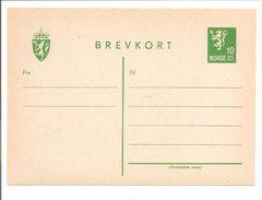 Norges Helpost. Brevkort Michel P106a +Wm - Enteros Postales